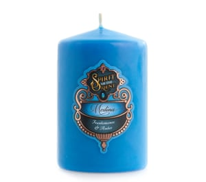 The maze-like streets of Arab cities probably do smell of burnt sugar and coriander, like this delicious candle.Medina Spirit of the Orient candle, £12.99, Buckley & Phillips Aromatics (soy and coconut wax, cotton wick, pure essential oils, Australia made)