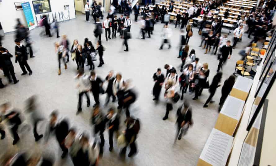 School pupils in hall