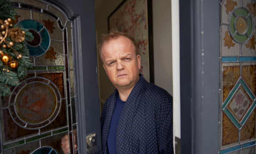 Roger (played by Toby Jones), at 92 Pepys Road.