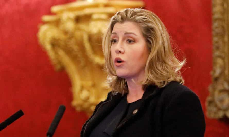 The international development secretary, Penny Mordaunt