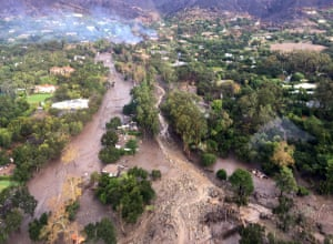 This photo provided by Ventura County sheriff's office shows an aerial view of Montecito