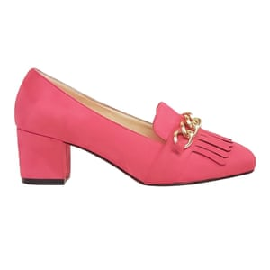 pink suede heeled loafers Asos