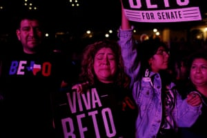 Tears in Texas after Beto O'Rourke conceded to Cruz.