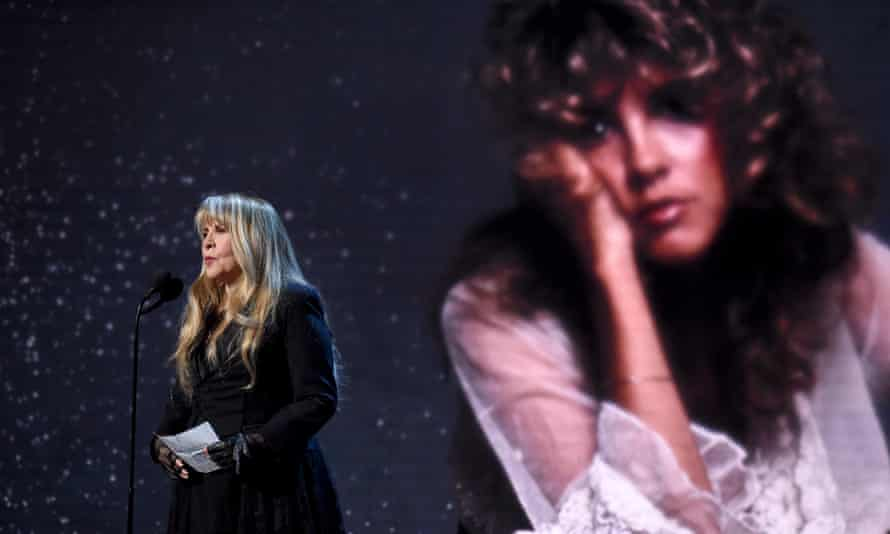 Stevie Nicks being inducted into the Rock & Roll Hall of Fame in March.