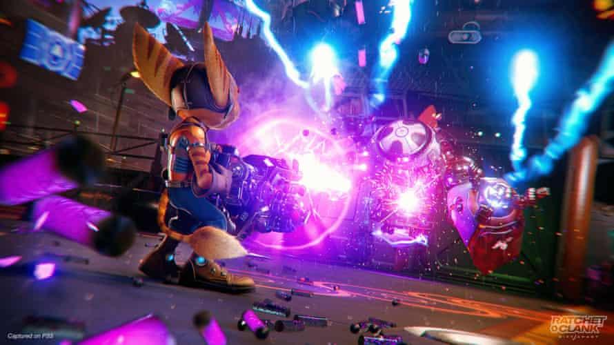 Ratchet & Clank: Rift Apart screenshot on PlayStation 5.