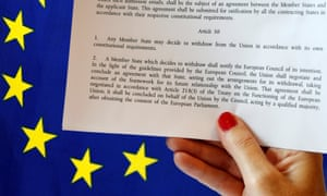 Article 50 of the EU's Lisbon Treaty sets out how an EU country might voluntarily leave the union.