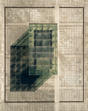 """Axonometry, by Grzegorz Tatar, taken in Wrocław, Poland: """"This is an aerial view of the underground entrance to the National Forum of Music."""""""