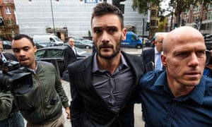 Tottenham Hotspur and France goalkeeper Hugo Lloris arrives at Westminster magistrates' court charged with drink driving.