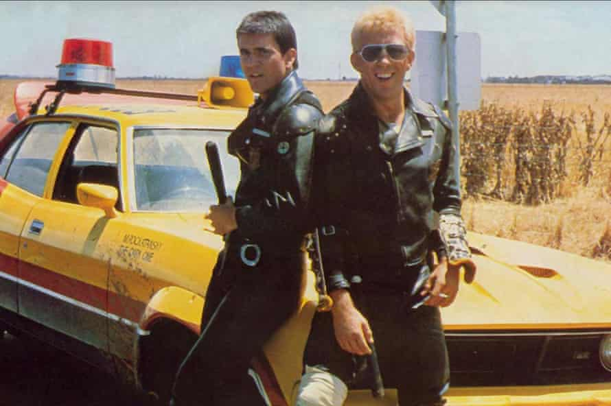 Mel Gibson and Steve Bisley as Max and Jim Goose in the original Mad Max.