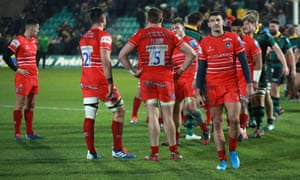 Leicester Tigers look downcast after their defeat to Northampton in November
