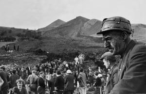 Devastated miners still digging, 25 October 1966.