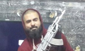 An image of Suhan Rahman apparently taken in Syria that appeared on social media.