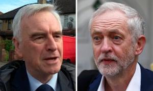 John McDonnell and Jeremy Corbyn