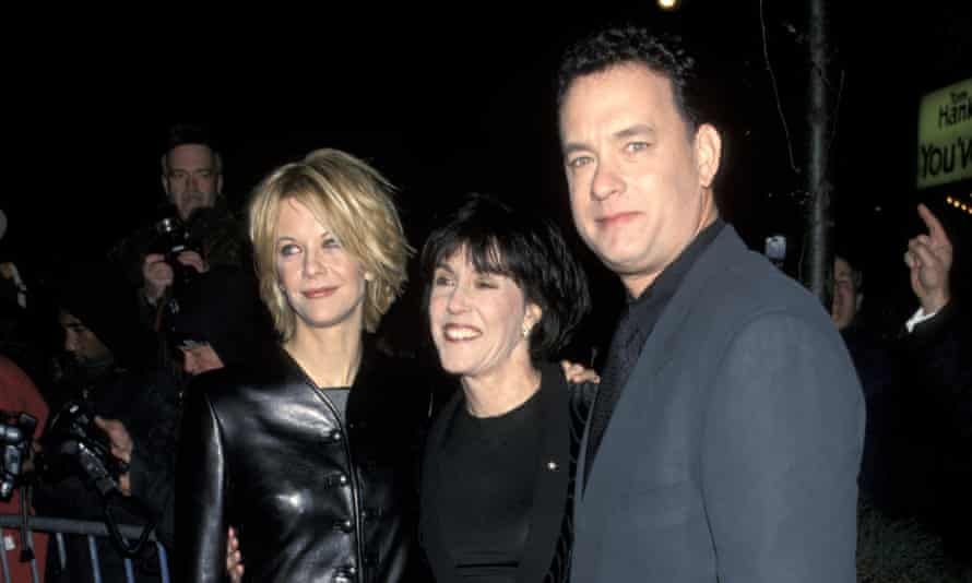 Tom Hanks with Meg Ryan and Nora Ephron at the premiere of You've Got Mail in 1998