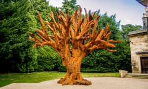 Ai Weiwei's Iron Tree at the Yorkshire Sculpture Park