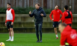 Ralph Hasenhüttl led his first training session at Southampton on Thursday.