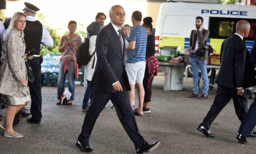 Sajid Javid, communities and local government secretary, at the Grenfell Tower block on Friday, said inspections had been carried out across the country.