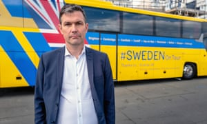 Torbjörn Sohlström, the Swedish ambassador to the UK, kicked off the tour in Brighton