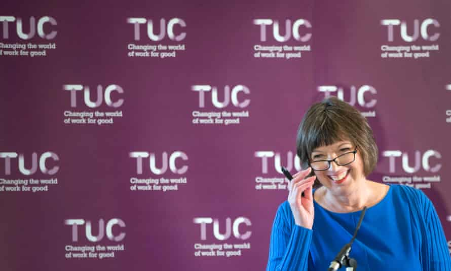 TUC general secretary Frances O'Grady speaking in Manchester.
