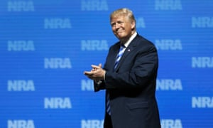 Donald Trump among friends at the NRA meeting in Dallas.