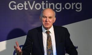 Former Lib Dem leader Vince Cable