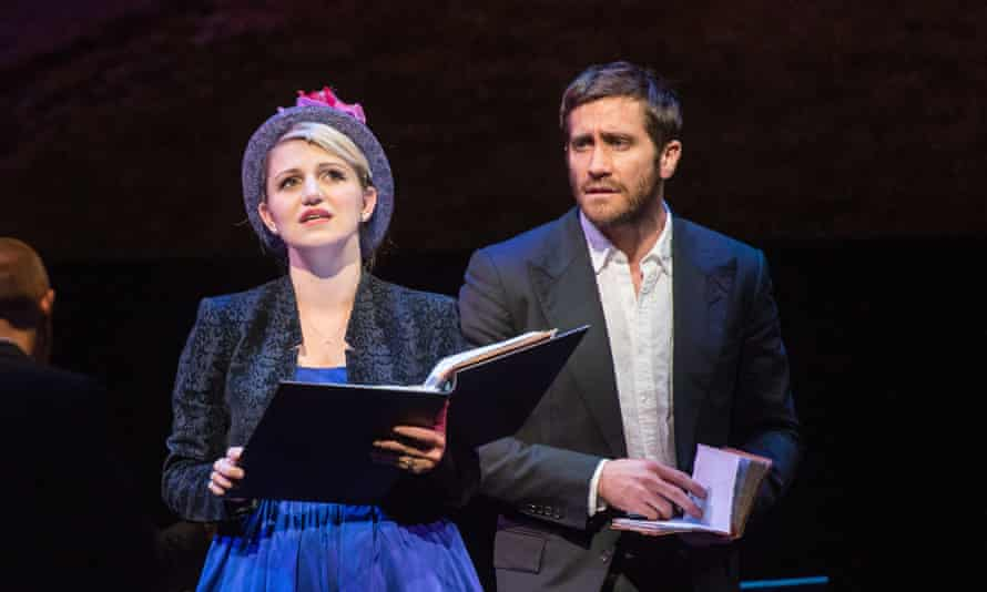 Jake Gyllenhaal as George Seurat and Annaleigh Ashford, Dot, his mistress in Sunday in the Park With George.