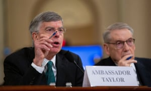 Bill Taylor (left), joined by George Kent, testified before the House Intelligence Committee.