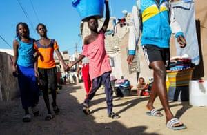 A group of girls in Dakar, Senegal, last month.