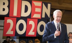 Joe Biden speaks during a campaign event at Simpson College Saturday in Iowa on Saturday.