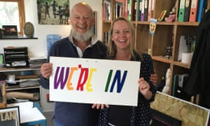 Glastonbury founder Michael Eavis and his daughter Emily
