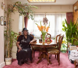 Edna Brown, originally from Sturge Town in Jamaica, was photographed at her home in Wembley, north London for a piece in the magazine about how people from Bangladesh, Iran, Syria and elsewhere, are making themselves at home in this unfamiliar country