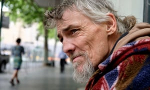 'The cold comes up through the concrete.' James, who sleeps rough in Melbourne, says he's given up looking for accomodation.
