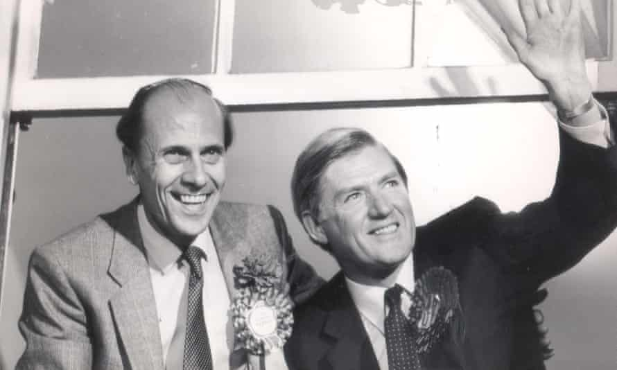 Cecil Parkinson with Norman Tebbit on election night in 1987.