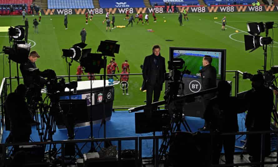 The BT Sport TV operation in action at a Premier League game last year.
