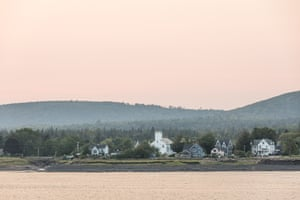 Annapolis Royal, Nova Scotia at dusk.