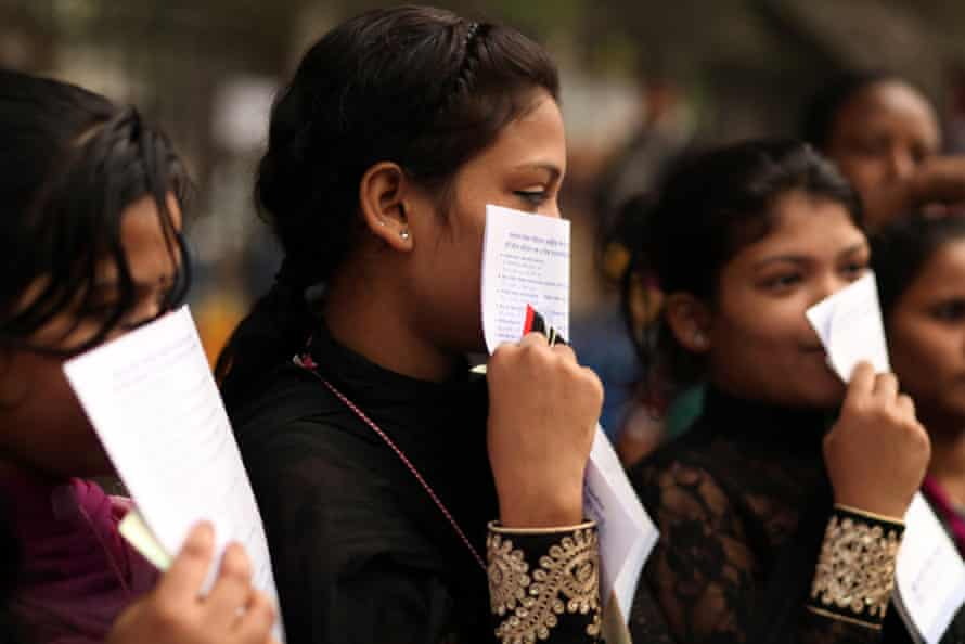 Women protest against child marriage in Bangladesh