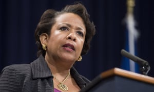 Loretta Lynch's statement comes three days before the deadline established by the Army Corps of Engineers for thousands of Native American and environmental activists to leave their main encampment.
