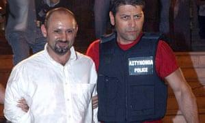 The 'uncatchable' Vassilis Palaiokostas after he was caught, 2008.