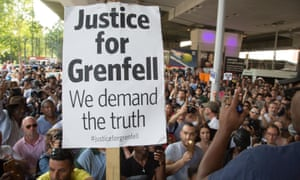 'A failure of local journalism': Justice4Grenfell supporters take to the streets in June.