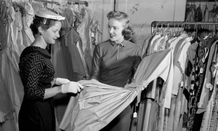 Woman buying dress