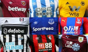 Nine Premier League clubs have a gambling company as their main shirt sponsor this season, and 17 of the 24 Championship clubs do.