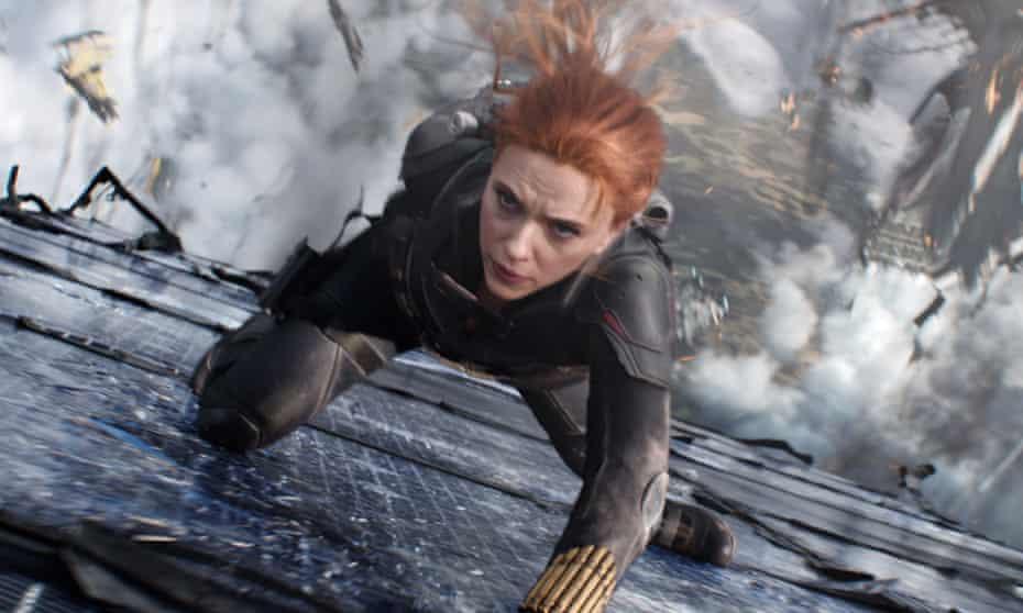 Scarlett Johansson in Black Widow, which premiered over the summer.