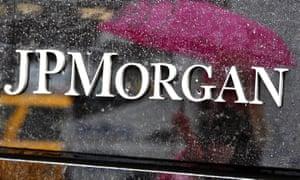 JP Morgan bank sign