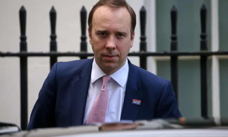 Matt Hancock at 10 Downing Street.