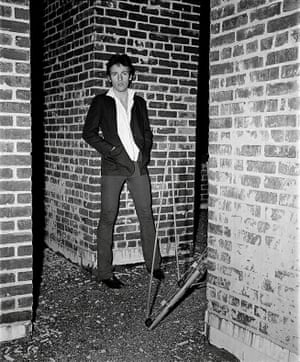 Springsteen in 1978 on the roof of the Record Plant studios at night in New York, during the Darkness sessions