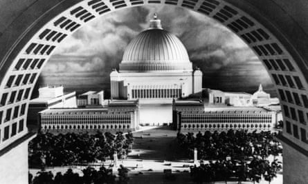 Germania's Great Hall, as as was envisaged by Adolf Hitler and his chief architect, Albert Speer.
