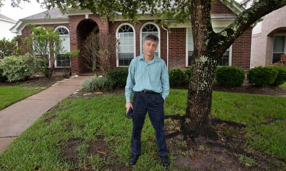 Stephen Lipp, climate refugee, Houston.