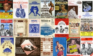 Boxing posters and programmes from fights across the decades at the Royal Albert Hall