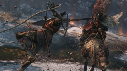 Sekiro's prosthetic arm becomes a grapple, a spear or a firecracker launcher as the situation demands.