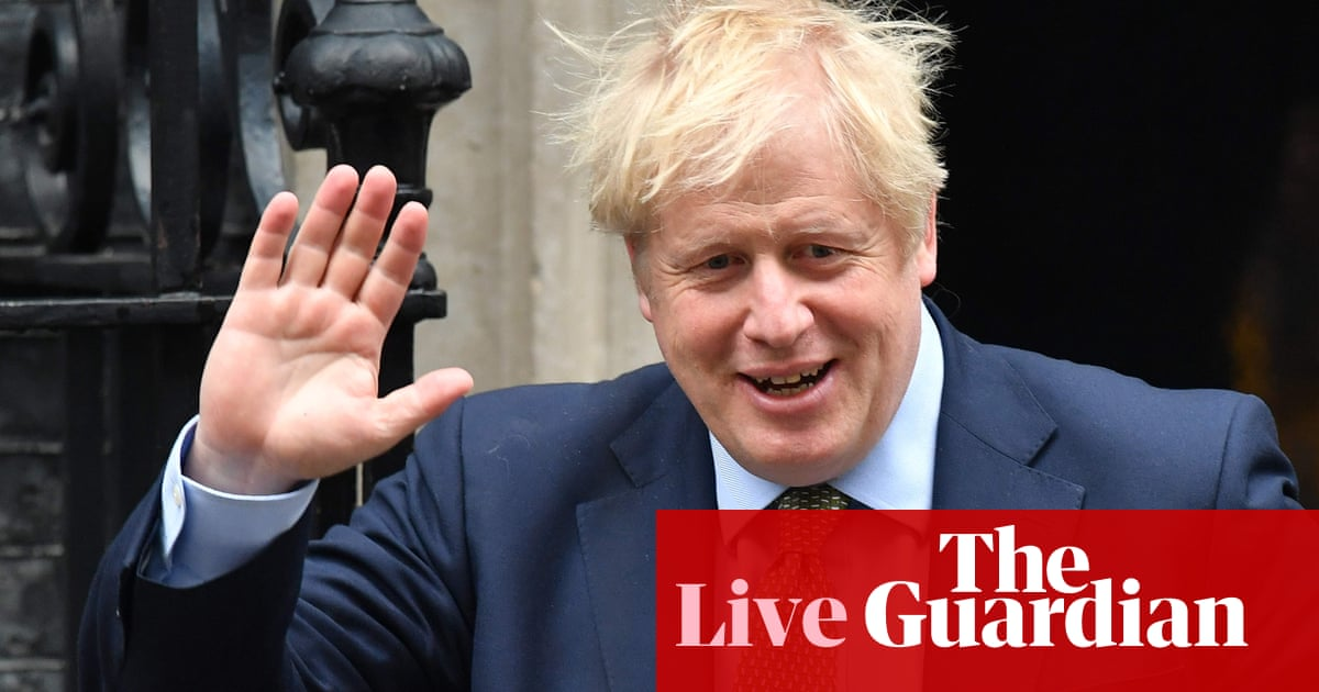 PMQs: Boris Johnson faces Jeremy Corbyn in the Commons – live news